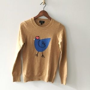 **J. Crew French Hen Cashmere/Wool Sweater**